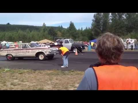 DODGE 330 VS. 54' FORD PICKUP BILLETPROOF ERUPTION DRAGS TOUTLE, WA 2013