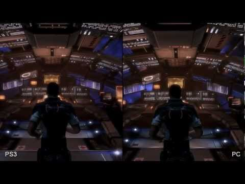 Mass Effect 3 Xbox 360 vs Playstation 3 vs PC Comparison HD