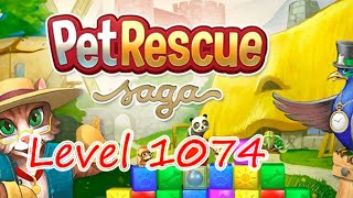 Pet Rescue Saga Level 1074 New level (NO BOOSTERS)