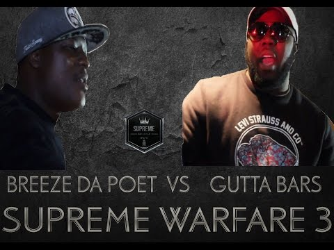 SUPREME RAP LEAGUE PRESENTS BREEZE DA POET VS GUTTA BARS HOSTED BY TINK THA DEMON