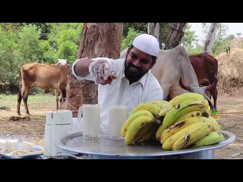 Delicious Banana Milkshake ||Oldage Home|| Nawabs kitchen