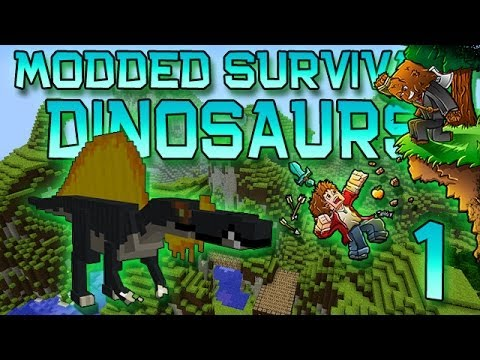 Minecraft: Modded Dinosaur Survival Let's Play w/Mitch! Ep. 1 - FOSSILS & ARCHAEOLOGY!
