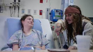 "Johnny Depp as ""Captain Jack Sparrow"" sails into Vancouver to visit patients at BCCH [FULL VIDEO}"