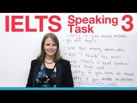 IELTS Speaking Task 3 - How to get a high score
