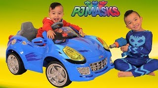 PJ MASKS CAT CAR Battery Powered Ride On Car Toy Unboxing Playtime With CKN Toys