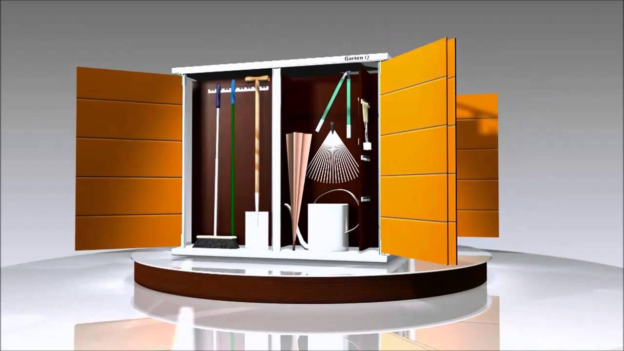 das moderne design gartenhaus mit flachdach youtube. Black Bedroom Furniture Sets. Home Design Ideas