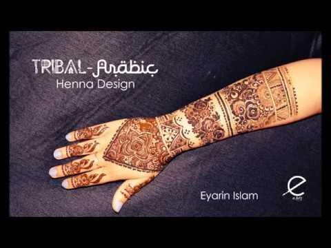 Tribal Arabic henna design - the most unique bridal design