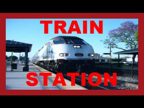Trains For Children - Orange County Metrolink Train Drive By Leaving The Station video