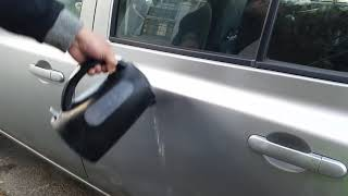 Car Dent Repair With Hot Water And Toilet Plunger DIY