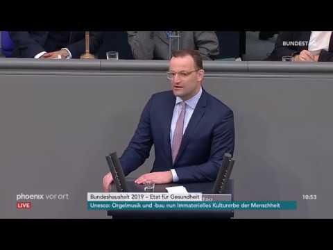 Rede von Jens Spahn zum Etat für Gesundheit am 14.09.18