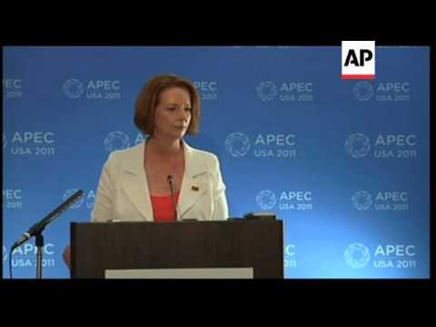 Australian PM Gillard's news conference