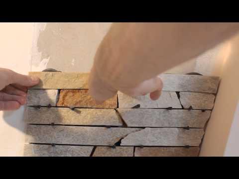 Искусственный камень укладка