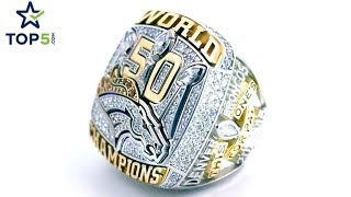 Every NFL Super Bowl Football Ring in 2 Minutes