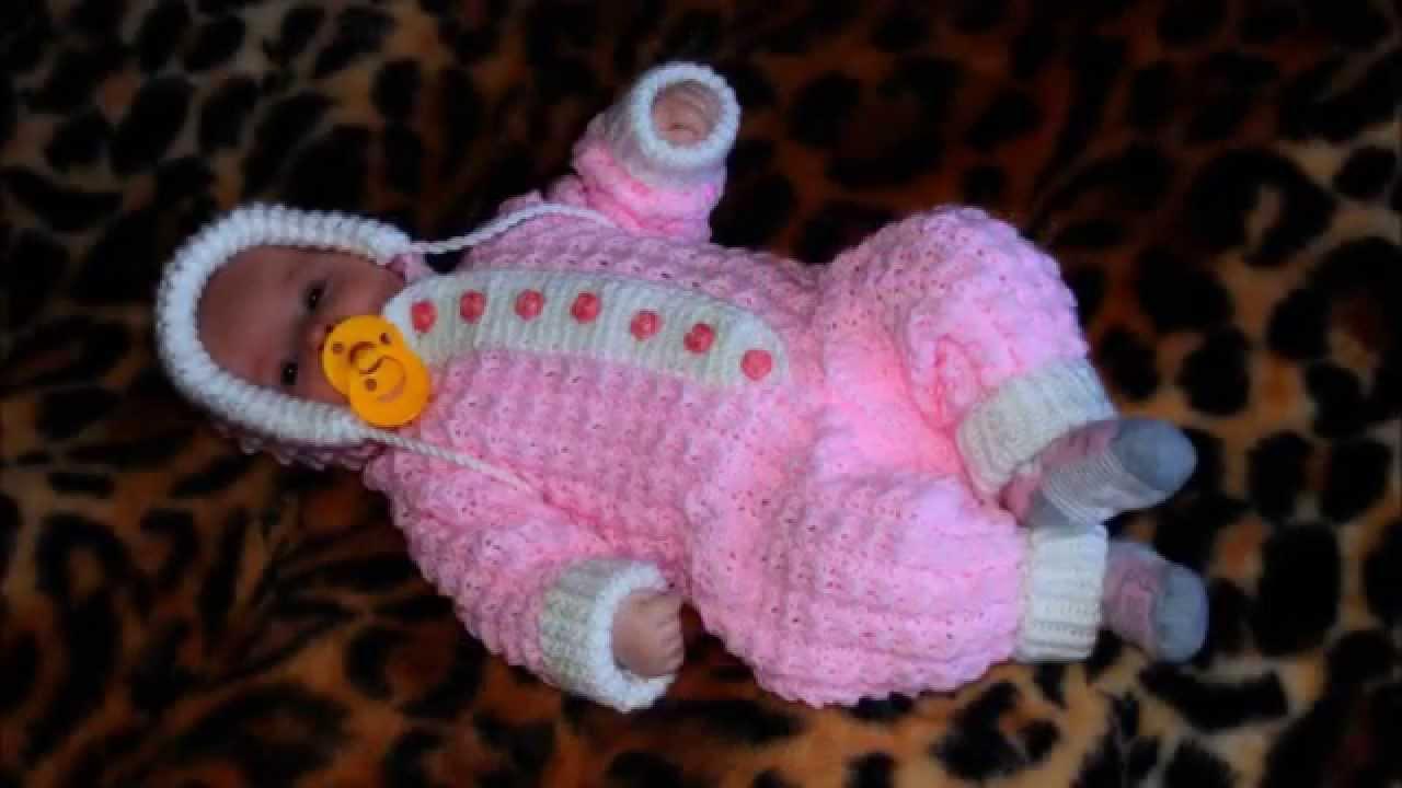 Вязание спицами костюмчики для новорожденных видео уроки