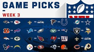 Week 3 NFL Game Picks!
