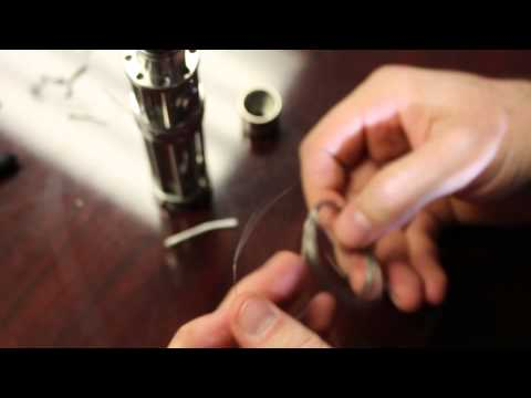 Build a Single Coil for Electronic Cigarette on Grand Vapor RDA and Innokin Itaste 134