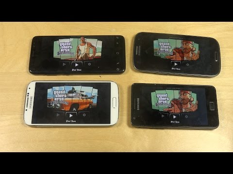 GTA San Andreas Samsung Galaxy S8 vs. S4 vs. S3 vs. S2 Gameplay Review