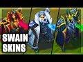 All Swain Skins Spotlight Rework Tyrant Northern Front Bilgewater (League of Legends)