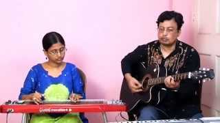 Na Bole Esechi Bangla Adhunik in Electric Hawaiian Guitar & Spanish Guitar byMou & Debasish Dutta