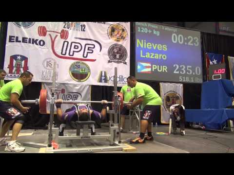 Men 120+kg Bench Press of 2012 IPF World Championships Image 1