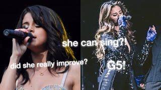 Selena Gomez's Singing Then VS Now