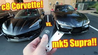 THIS is my c8 Corvette spec ft. my Toyota Supra!