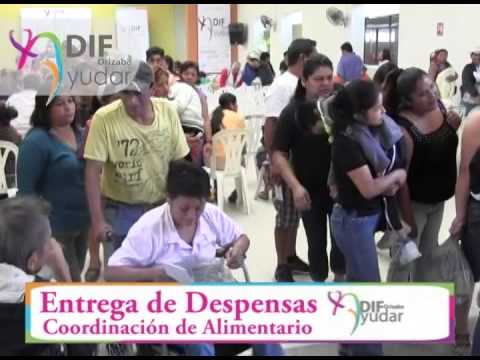 1era entrega de Despensas - Coordinación de alimentario DIF ORIZABA 2015
