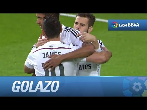 Golazo de falta de James (5-3) en el Real Madrid - Getafe CF