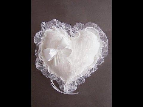 Make A Heart Shaped Bridal Ring Bearer Pillow Youtube