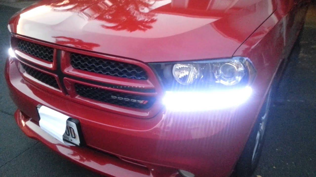2013 Dodge Charger Se >> 2013 Dodge Durango R/T LED light kit - YouTube