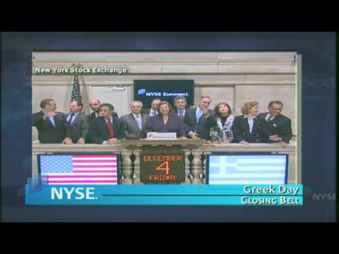 4 December 2009 Greek Day NYSE Euronext Closing Bell