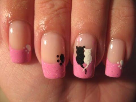 Nail art: Cute cats love