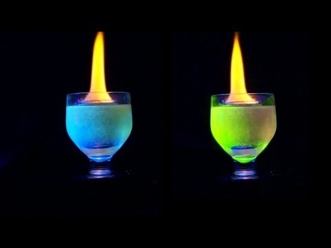 Flaming shot changes color