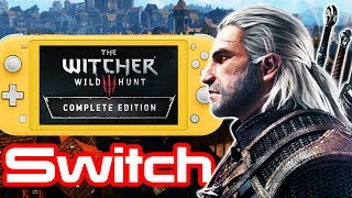 The Witcher 3 Switch Docked Gameplay + SWITCH LITE