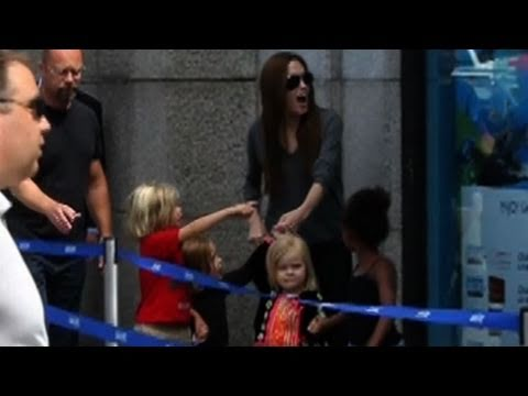 Brad Pitt Lunches With Angelina Jolie, Jolie-Pitt Kids Go to London Aquarium