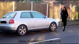 Indian Woman cranking Audi A3 - Pedal pumping / Cranking