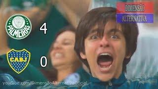 Palmeiras 4 x 0 Boca Juniors  - Melhores Momentos - SemiFinal  - Libertadores 2018