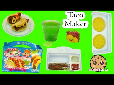 Queen Elsa & Barbie Eat Yummy Nummies Terrific Tacos Maker - Fun Food Cooking Video