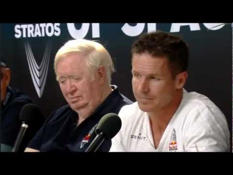 Red Bull Stratos Post Jump Press Conference with Felix Baumgartner
