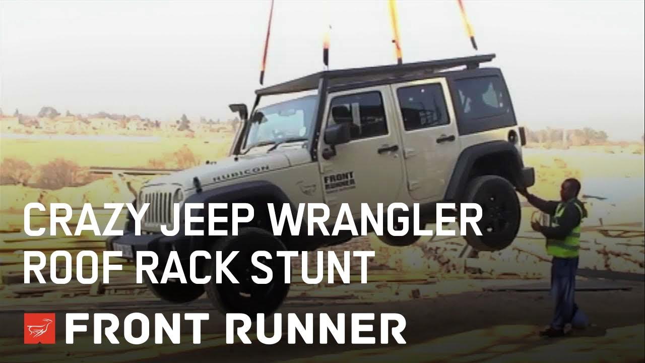 Crazy Jeep Wrangler Roof Rack Stunt Youtube