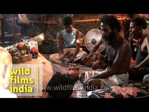 Indian seer performing black magic!