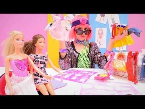 Видео для девочек с Барби - Полен стала стилистом