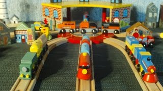 Video For Children Toy TRAINS New Trains Red Green Blue Orange For Kids Kiddies Toddlers Videos