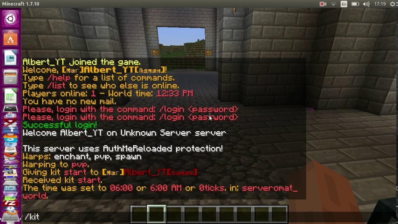 Как сделать свое приветствие для сервера 106
