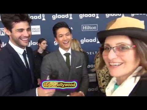 MATTHEW DADDARIO & HARRY SHUM Jr. even have Lesbians Swooning. GLAAD 2016