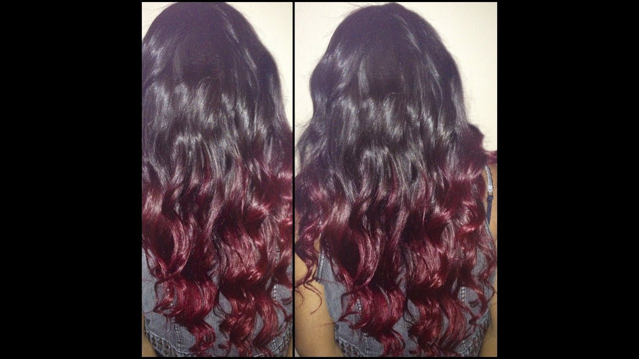 Diy burgundy ombre dark brown hairs of burgundy purple ombre hair color - Ombre hair marron ...