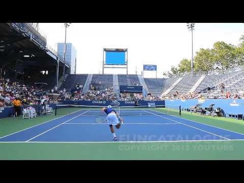 Andy Roddick / Somdev Devvarman 2013 Last Warmup Before Retirement 2012  7 / 10