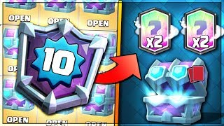 LEVEL 10 OPENS ULTIMATE CHAMPION DRAFT CHEST!   Clash Royale   How To Get Ultimate Draft Chest!!
