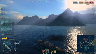 World of Warships Tier 3 and Tier 4 Japanese Battleship gameplay