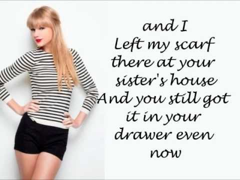 Taylor Swift - All Too Well (Lyrics On Screen) HD